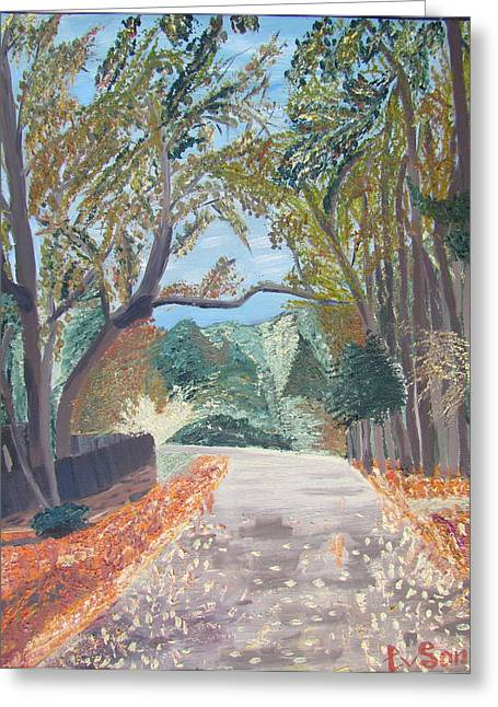 Fall In Tyler Greeting Card by Evgeniya Sohn Bearden