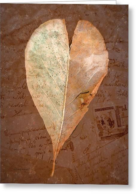 Fall Love Letters Greeting Card by Cindy Wright