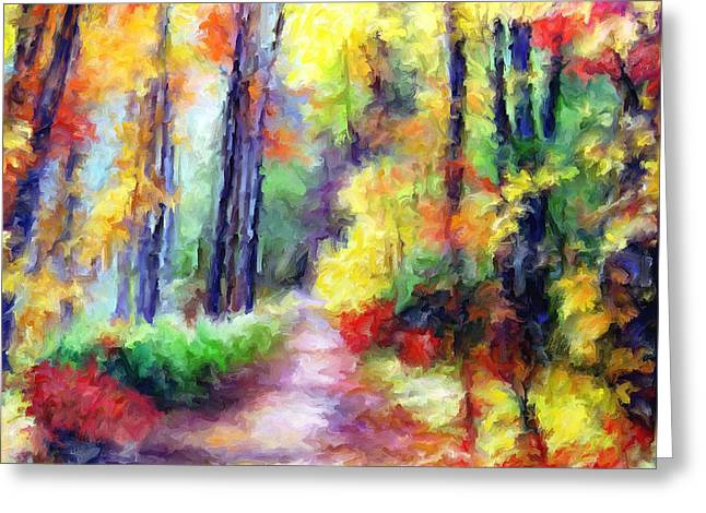 Fall Melody Greeting Card by Marilyn Sholin