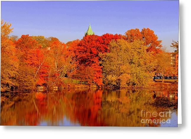 Fall On Mystic Lake Greeting Card