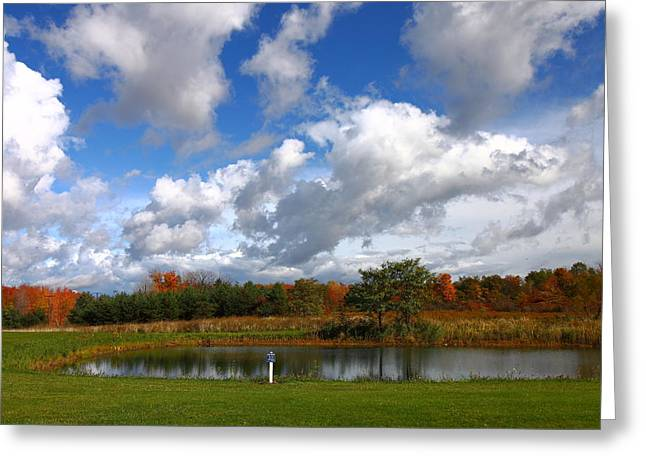 Fall Pond Greeting Card by Kevin Schrader