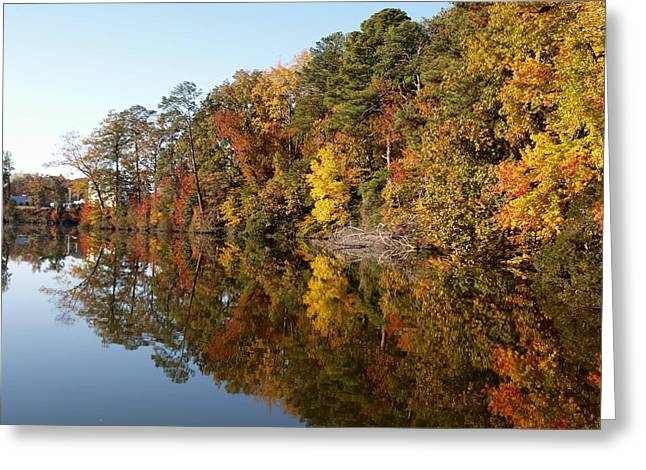 Fall Reflections Greeting Card by Larry Krussel