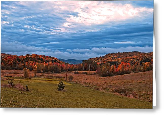 Fall Scenery In The Canadian Countryside Greeting Card by Chantal PhotoPix