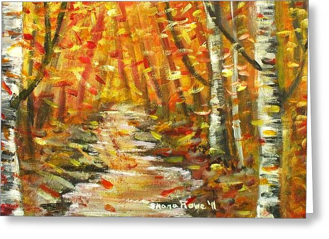 Greeting Card featuring the painting Fall by Shana Rowe Jackson