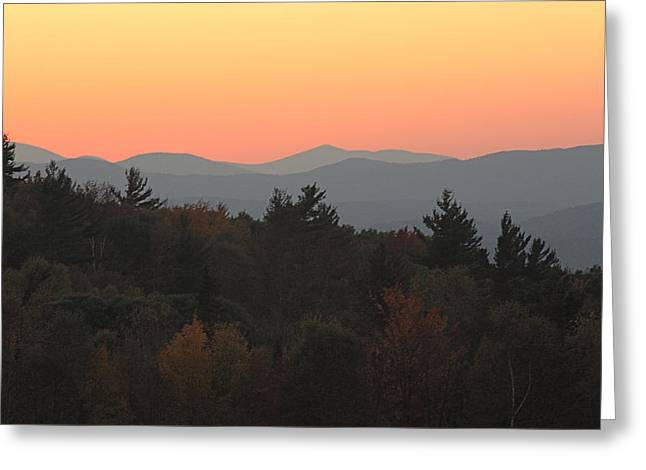 Greeting Card featuring the photograph Fall Sky At Sunset by Robin Regan