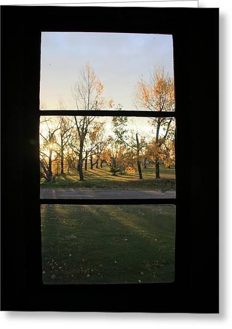Fall Through The Window Greeting Card