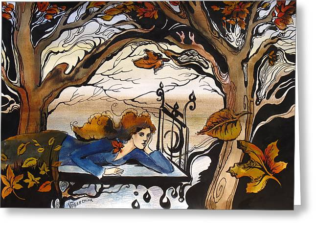 Fall Greeting Card by Valentina Plishchina
