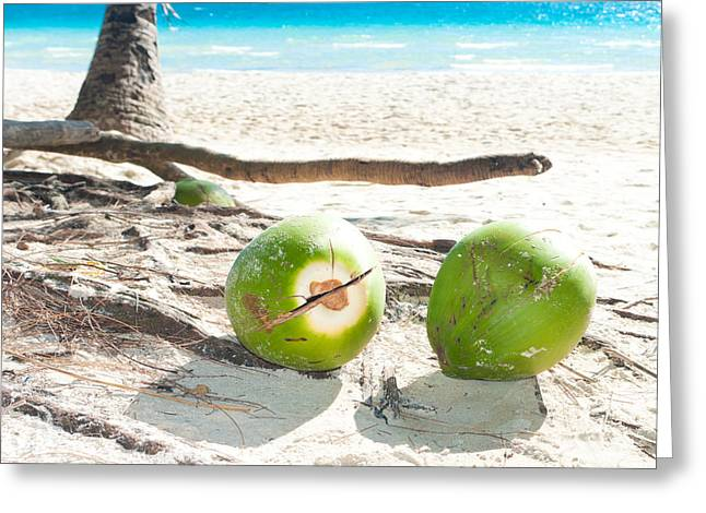 Fallen Coconuts Greeting Card by Hans Engbers