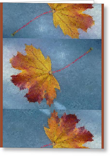 Falling Autumn Leaves Greeting Card