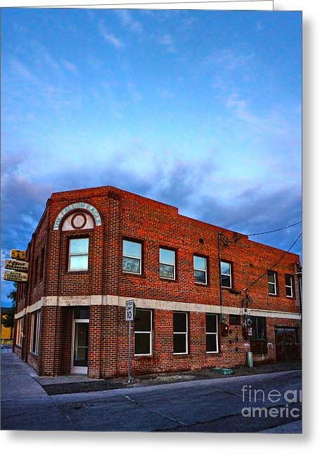Fallon Nevada Building Greeting Card by Gregory Dyer