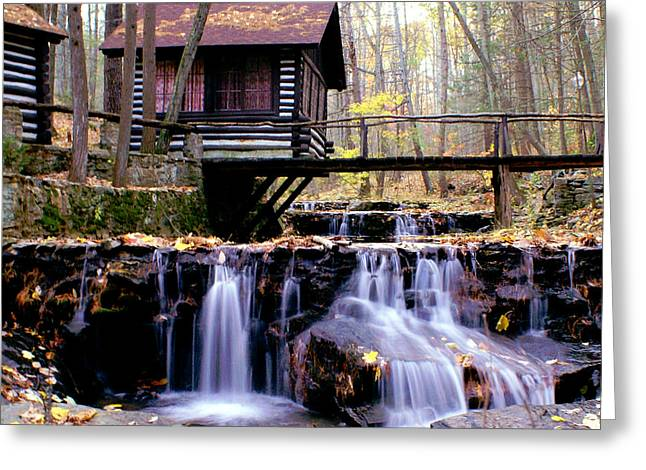 Falls On Friends Creek Mirrored Version   Greeting Card by L Granville Laird