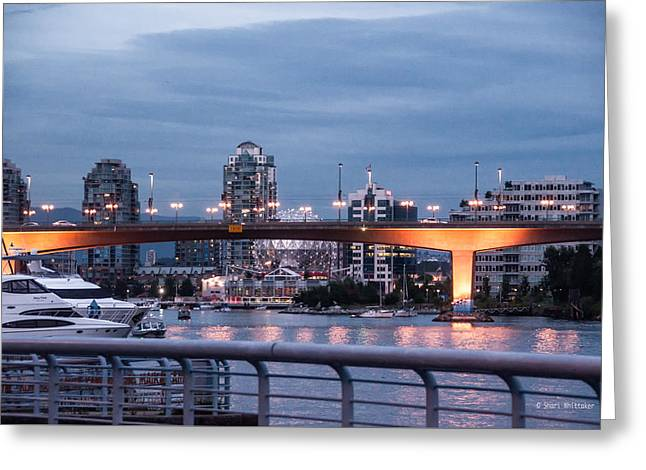 False Creek Evening Vancouver Greeting Card