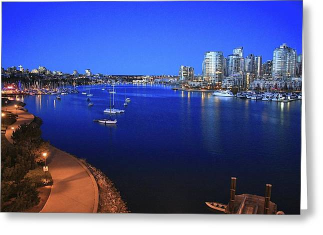 Greeting Card featuring the photograph False Creek by Scott Holmes