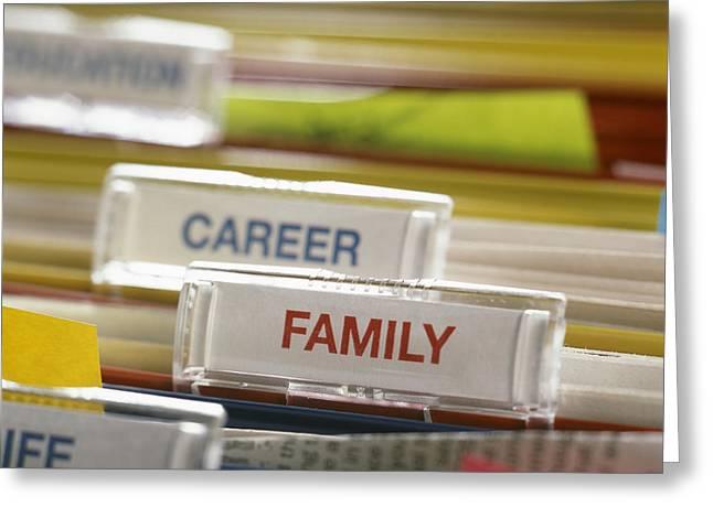 Family Before Career Greeting Card by Tek Image