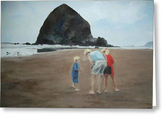 Family By The Sea Greeting Card