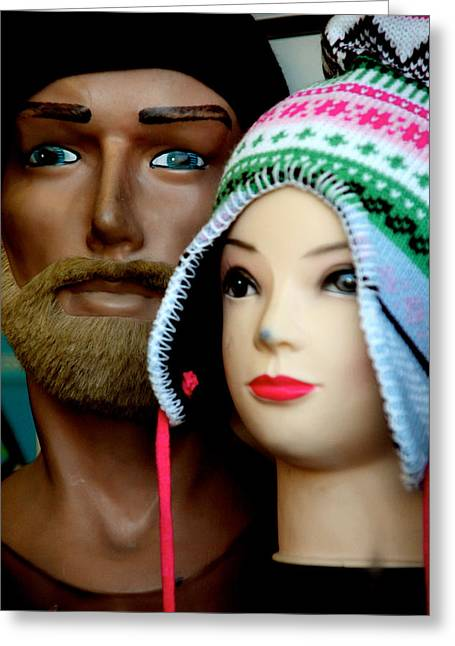 Family Hats Greeting Card by Jez C Self