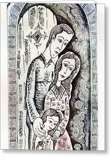 Family Greeting Card by Milen Litchkov