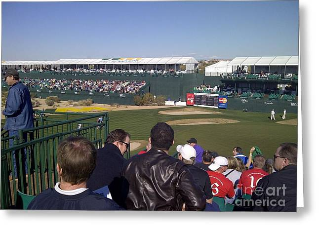 Famous 16th Hole Greeting Card by Pamela Walrath
