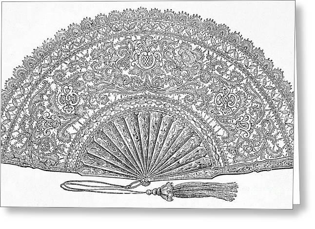 Fan, 1876 Greeting Card by Granger
