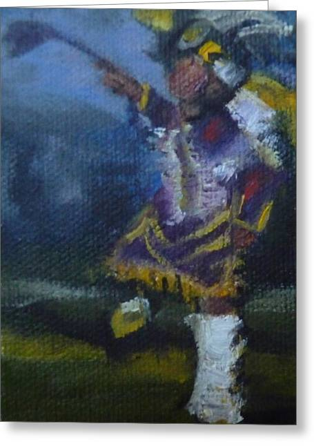 Fancy Dancer Long Beach Pow Wow Greeting Card by Jessmyne Stephenson