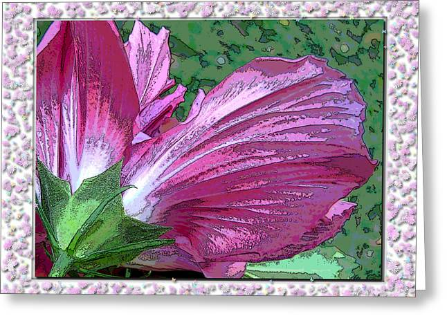 Greeting Card featuring the digital art Fancy Finish by Debbie Portwood