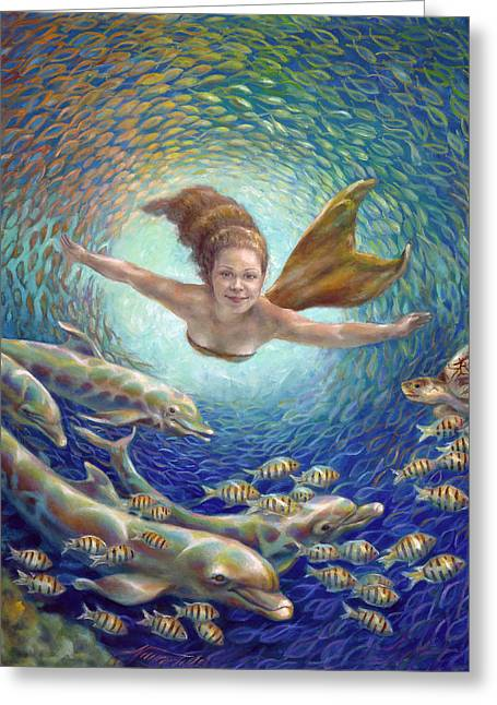 Fantastic Journey II - Mermaid Greeting Card