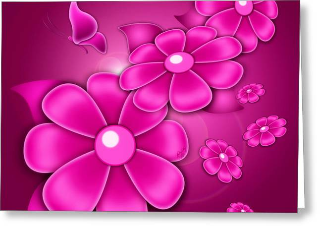 Fantasy Floral Greeting Card