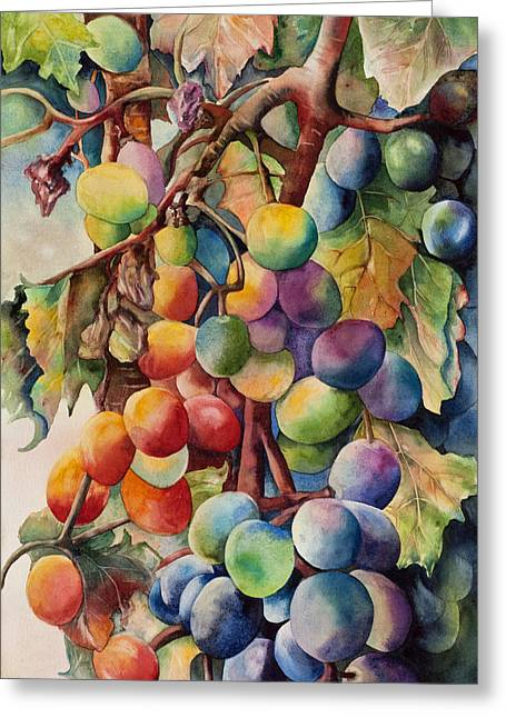 Fantasy Grapes Greeting Card