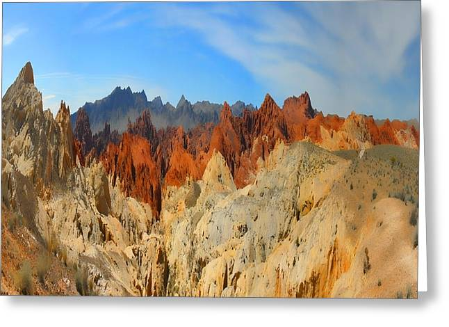 Greeting Card featuring the photograph Fantasy Mountains by Gregory Scott