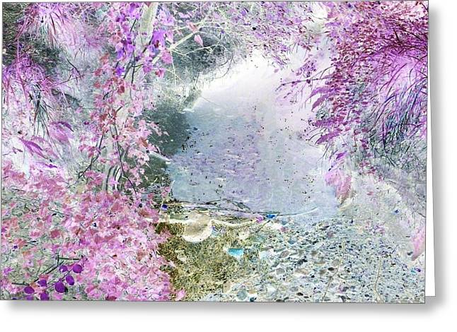Fantasy Woodland Pond Greeting Card by Sharon Lisa Clarke