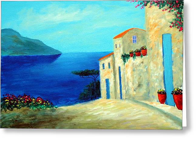 Fantisy By The Sea Greeting Card by Larry Cirigliano