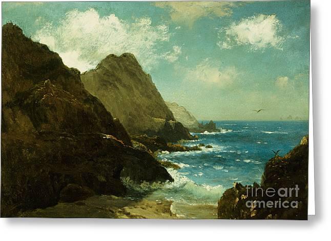 Farallon Islands Greeting Card by Albert Bierstadt