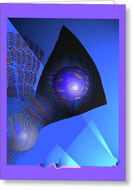 Farflow Greeting Card by Charles Carlos Odom