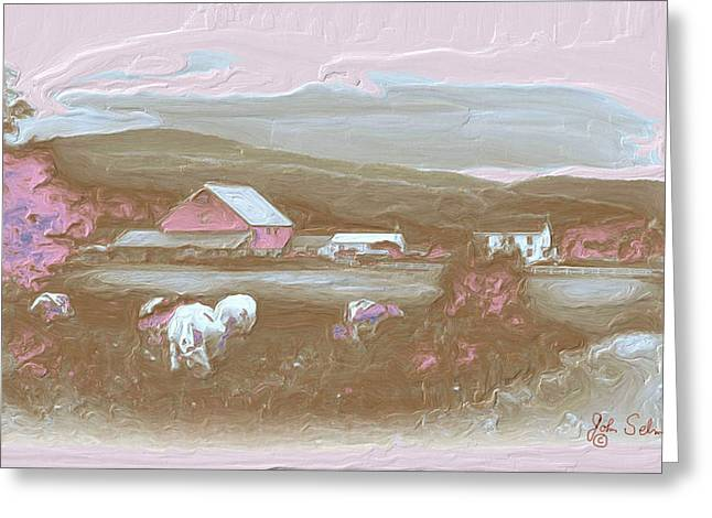 Farm   In Pink Greeting Card
