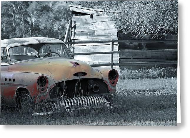 Farm Buick Greeting Card by Steve McKinzie