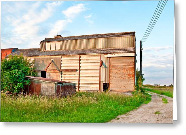 Farm Building Greeting Card by Tom Gowanlock