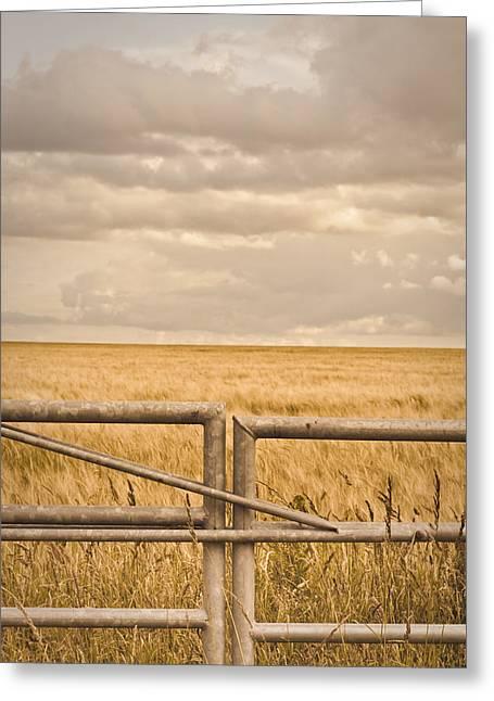 Farm Gate Greeting Card