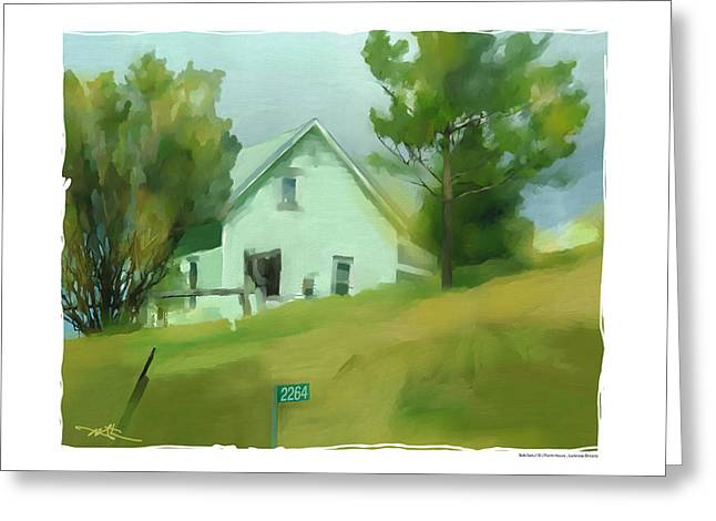 Farm House In Lucknow Ontario Greeting Card by Bob Salo