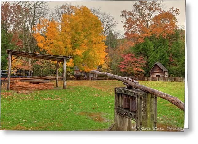 Farm Iv Greeting Card by Charles Warren
