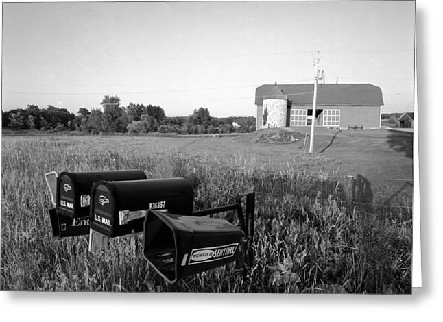 Farm On Hiway C Greeting Card by Jan W Faul