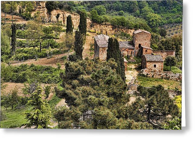 Greeting Card featuring the photograph Farm Orvieto Italy by Hugh Smith