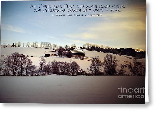 Farmer's Christmas Greeting Card by Sabine Jacobs