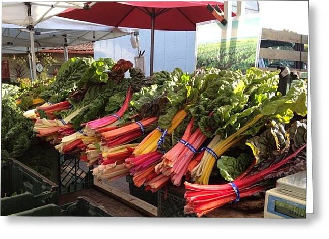 Greeting Card featuring the photograph Farmer's Market by Lora Lee Chapman