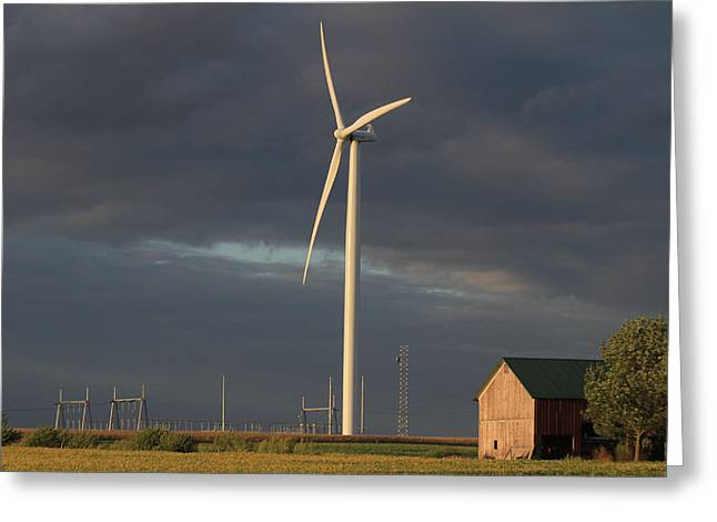 Farming  The Wind Greeting Card by Jim Ferrier