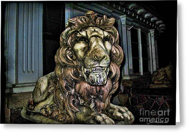 Farnam Manor Haunt Greeting Card by Joan  Minchak