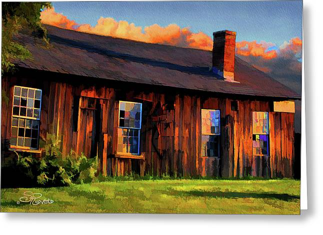 Farrier's Shed Greeting Card by Suni Roveto