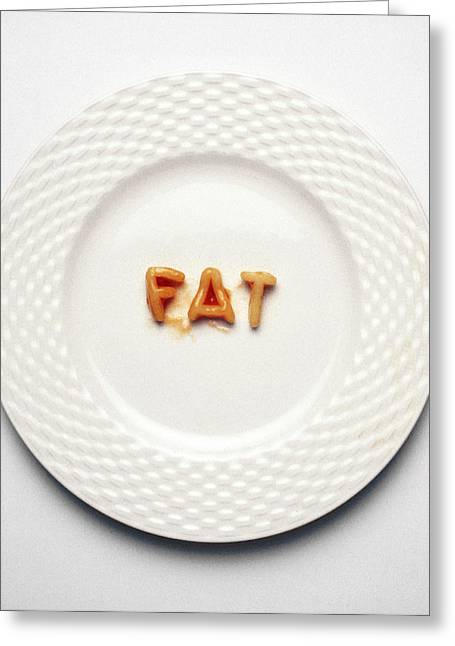 Fat Greeting Card by Victor De Schwanberg