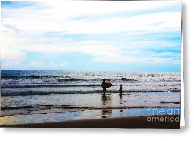 Father And Son Moments Greeting Card by Susanne Van Hulst
