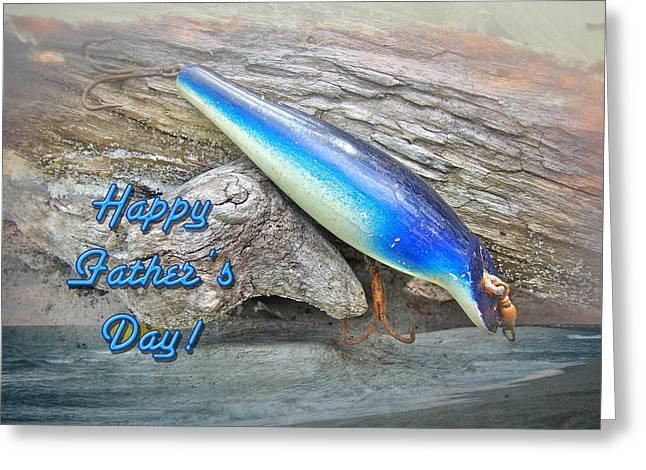 Fathers Day Greeting Card - Vintage Floyd Roman Nike Fishing Lure Greeting Card