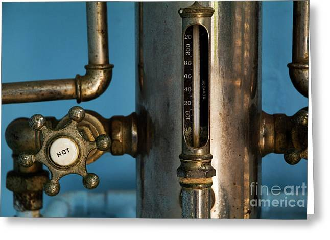 Faucet Of A 19th Century Shower Greeting Card by Sami Sarkis